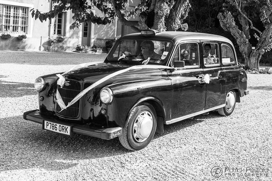 chateau Pech Celeyran - arrivée en taxi Londonien