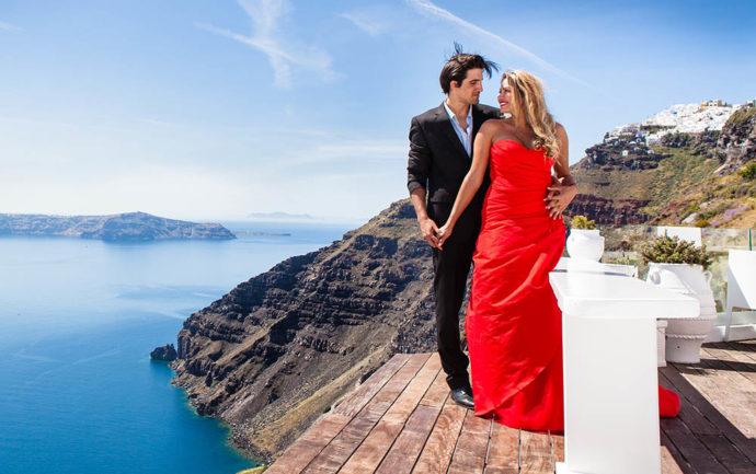 Photographe mariage santorini